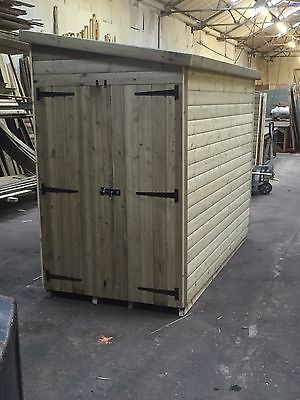 """Garden Sheds 3x2 8 x 4 fully tanalised motorcycle shed 3x2 cls 22mm loglap 1"""" thick"""