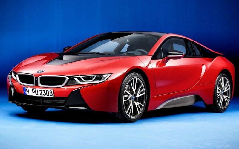 Wallpaper Front Sports Car Bmw I8 Protonic Red Edition Cars
