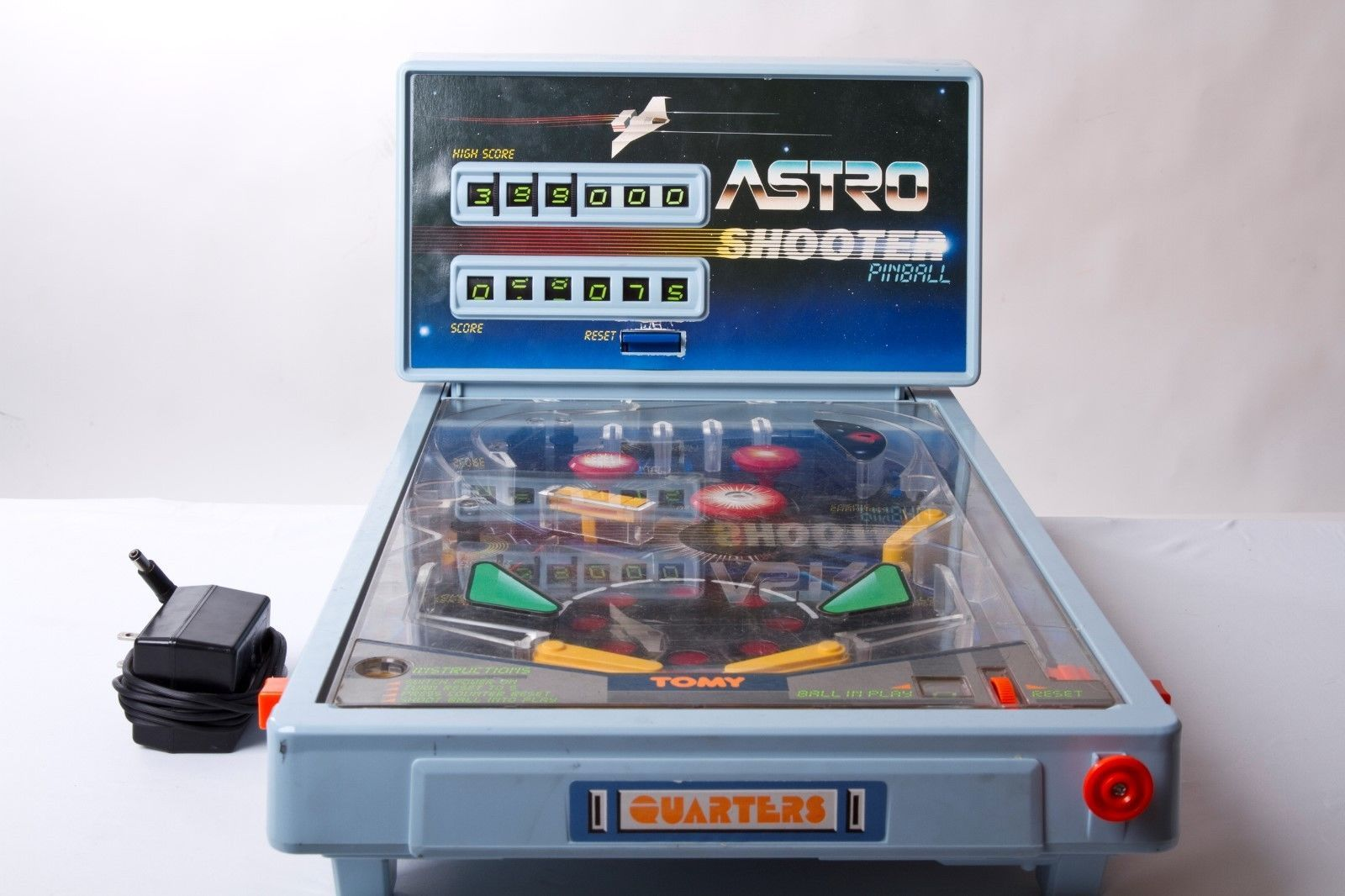 Vintage 1980's Tomy Astro Shooter Tabletop Pinball Machine