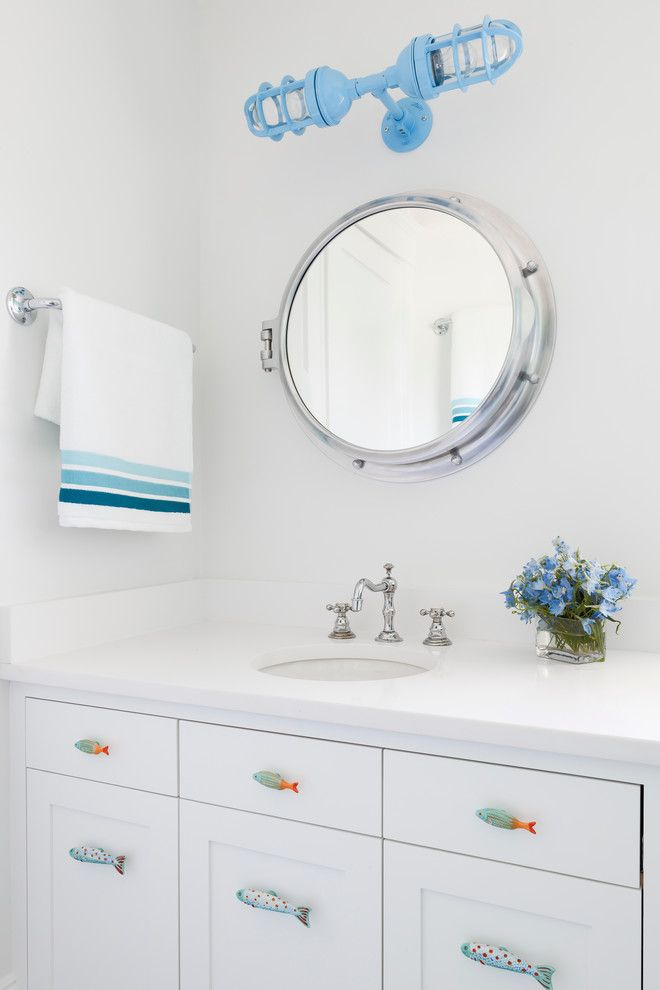 This Feng Shui Style Bathroom Is Pretty Awesome Love The Fish - Nautical light fixtures bathroom for bathroom decor ideas