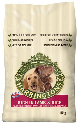 Bargain 15kg Harringtons Complete Lamb And Rice Dry Mix Dog Food