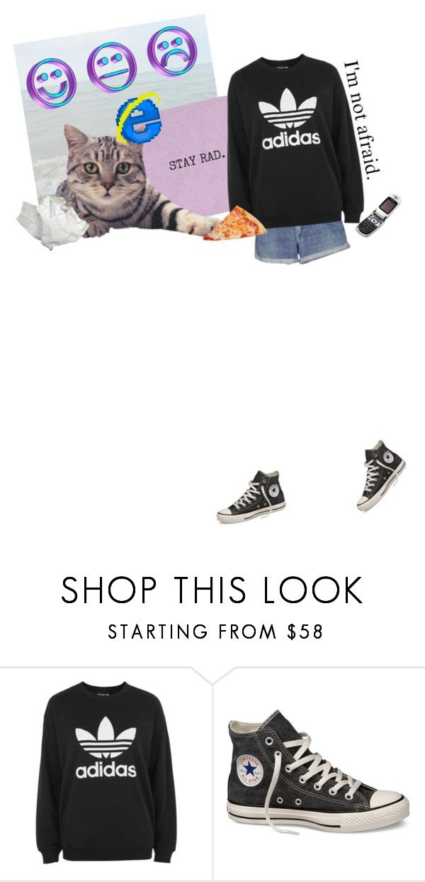 """❣️Stay You❣️"" by coco-puffs-yay ❤ liked on Polyvore featuring Levi's, adidas, Motorola and Converse"