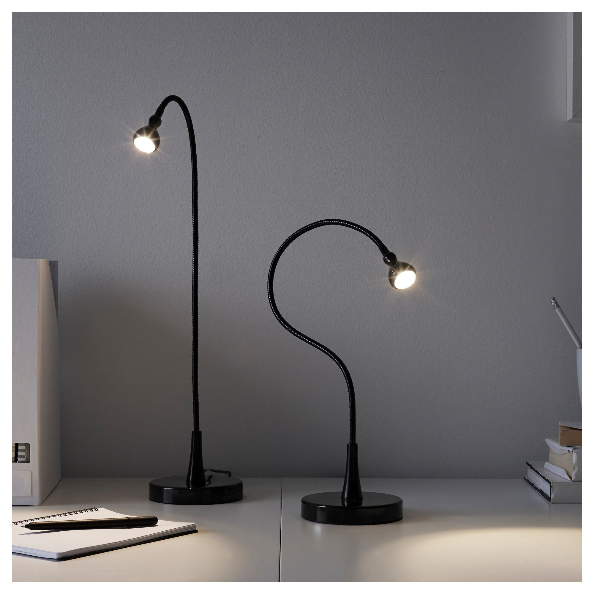 De À Lampe Bureau Et Jansjö BureauIkea LedNoir153 DH2EI9W