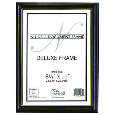 Charlton Home This document frame is the ideal way to display diplomas, certificates or awards. The unbreakable, protective plastic face ensures the safety of your diploma. The versatile frame with gold stripe hangs vertically or horizontally.