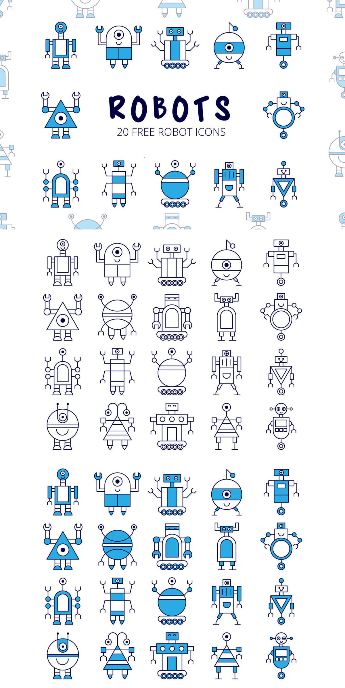 Free Robot Vector Icon Set | Icons planner | Robot icon