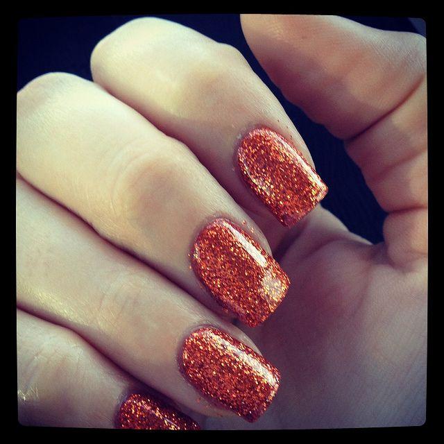 Halloween Orange Glitter Acrylic Nails Nails Tumblr Nails Halloween Nails