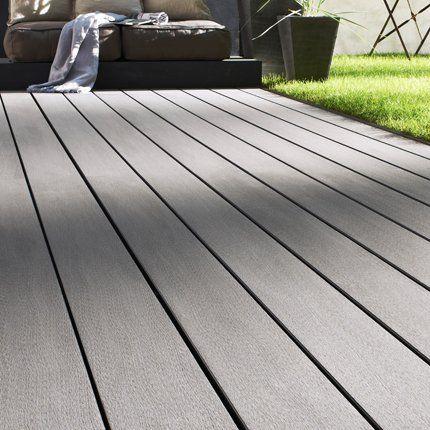 sol de terrasse oc wood de lapeyre compos de dalles de bois composite color en gris. Black Bedroom Furniture Sets. Home Design Ideas