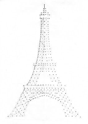 string art eiffel tower pattern craftyrichela eiffel. Black Bedroom Furniture Sets. Home Design Ideas