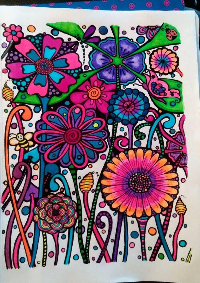 Flower Garden Colored by Bridget Byzlak