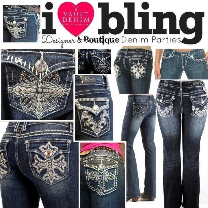 plus size rhinestone jeans (03) | RHINESTONE JEANS | Pinterest ...
