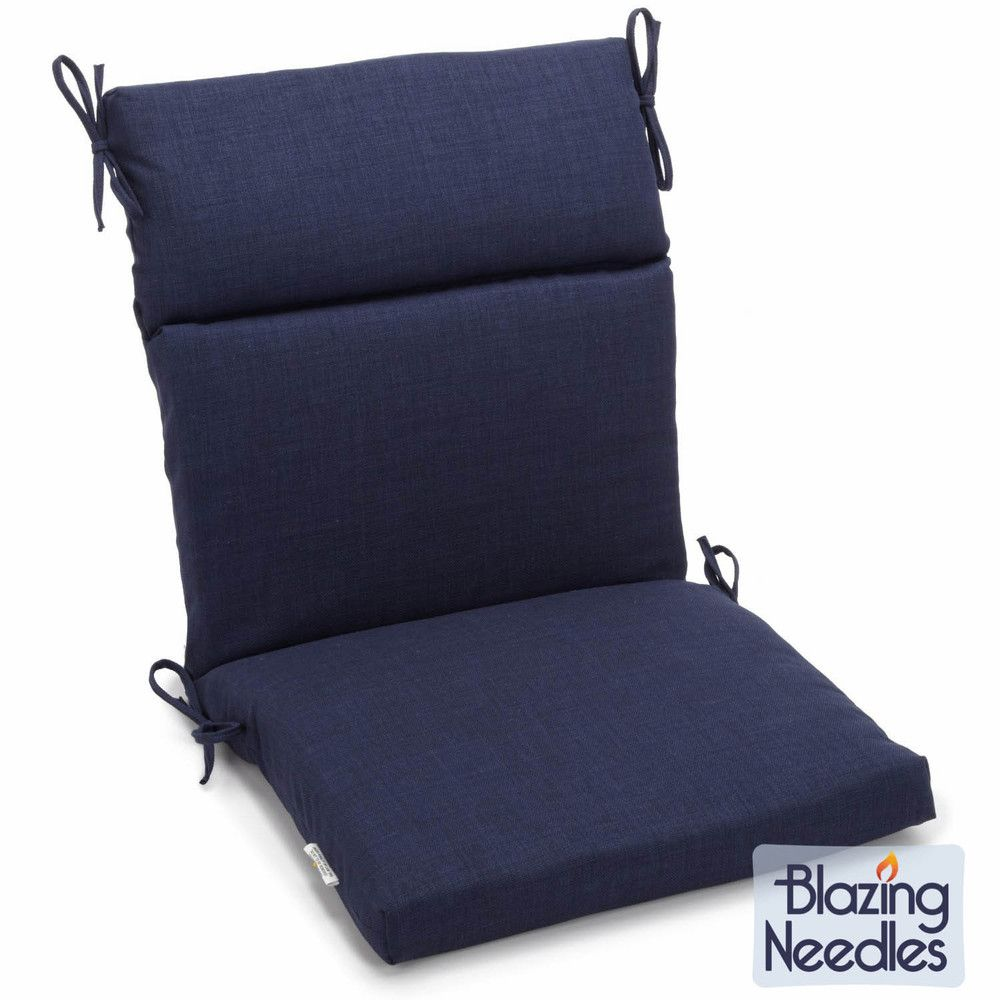 Blazing Needles Solid 3 Section Chair Cushion Overstock Com