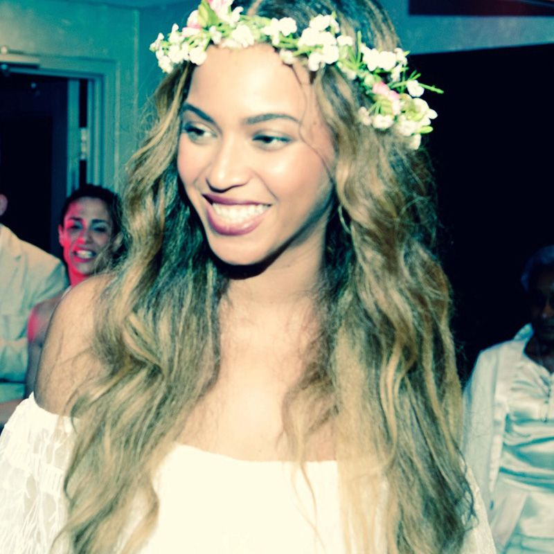 Beyonce at her mom Tina Knowles wedding, 2015