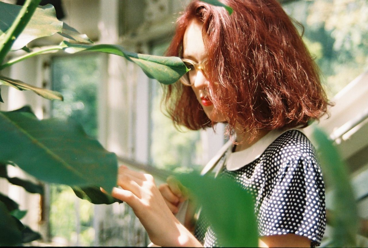 """artgae: """" a nice pic of Me having a tender little moment w some plants :——-) """""""