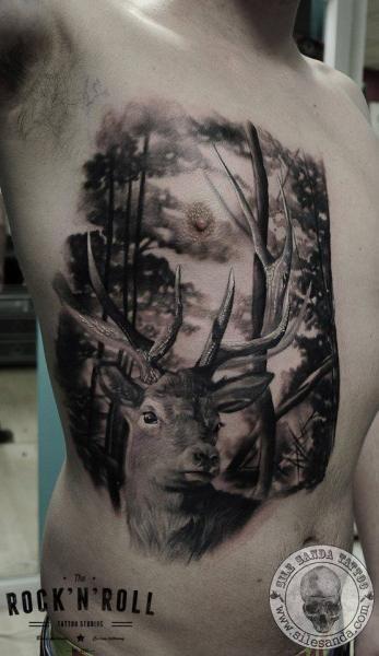 Tattoo By Rock N Roll Deer Tattoo Stag Tattoo 3d Tattoos