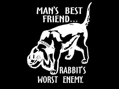 Details About Rabbit Hunter Decal Man S Best Friend Hunting Dog