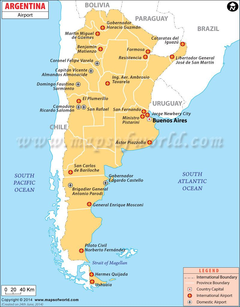 Argentina Airports on a map  Maps  Pinterest  Argentina