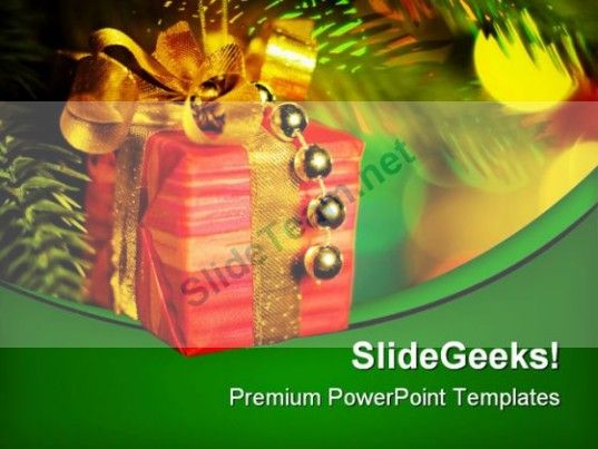 Gift Christmas PowerPoint Background And Template 1210 #PowerPoint - christmas powerpoint template