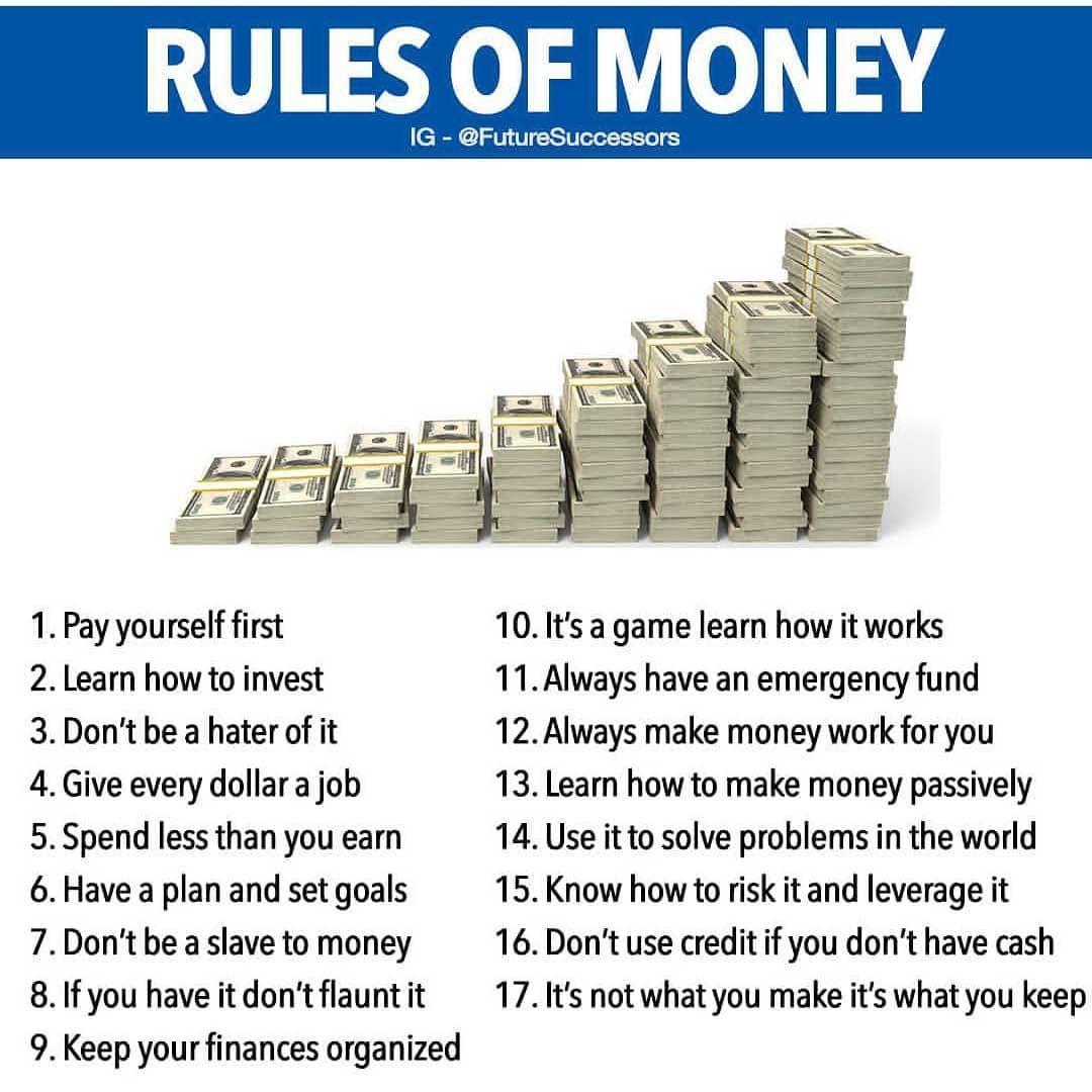 Rules Of Money Follo Investing Money Budgeting Money