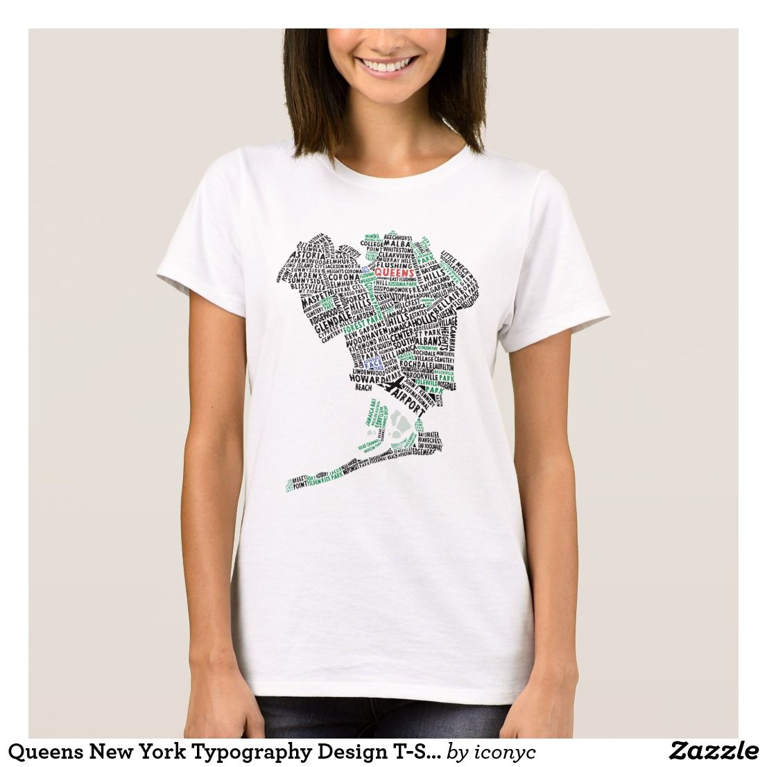 Design a t shirt nyc -  Queens New York Typography Design T Shirt Nyc Calligram