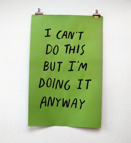 Monday morning mantra.