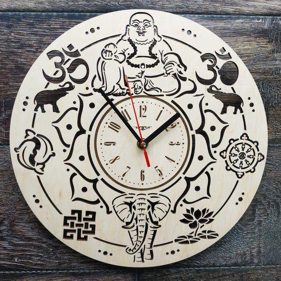 Buddhism Wall Art Clock Tantric Buddhism Home Kitchen Room Decor