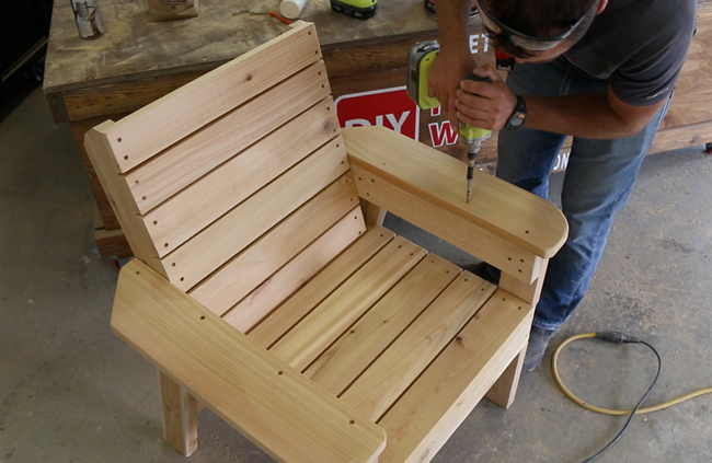 DIY Patio Chair with Plans