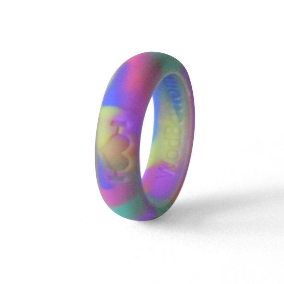 Purple Silicone Wedding Rings for Women Bands Perfect for Crossfit Fitness