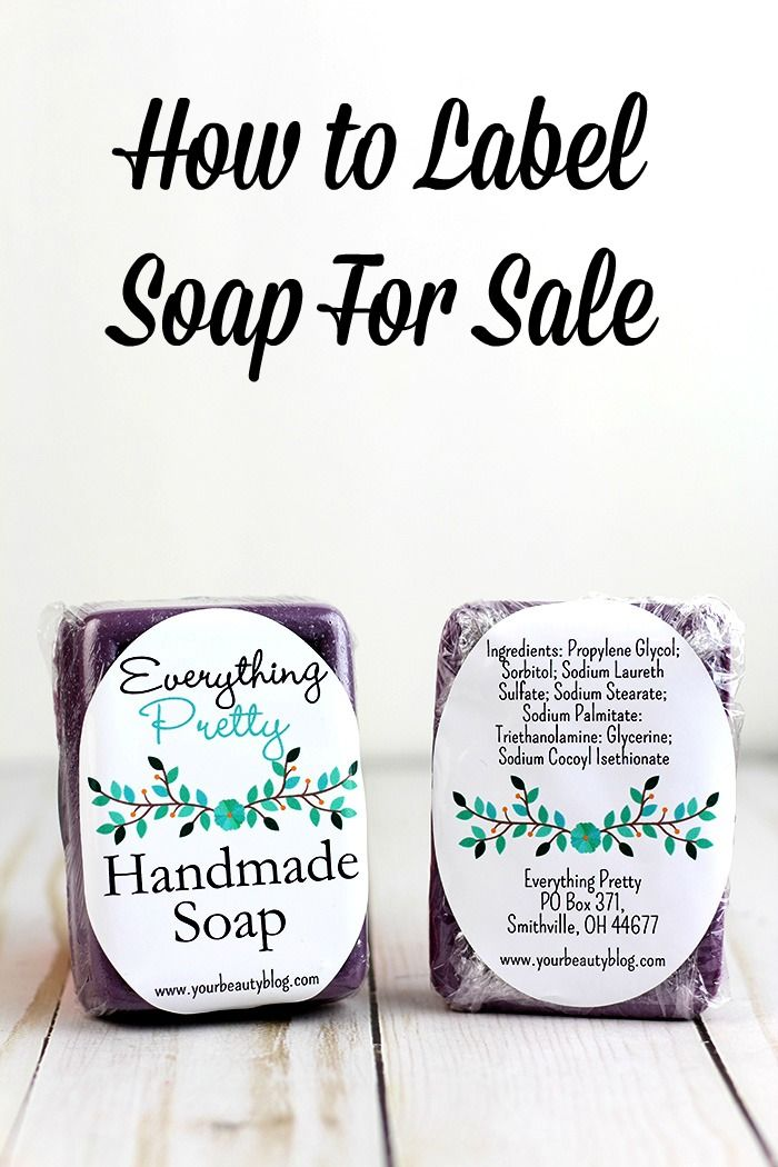 How To Label Soap For Sale DIY Beauty Recipes Pinterest Soap