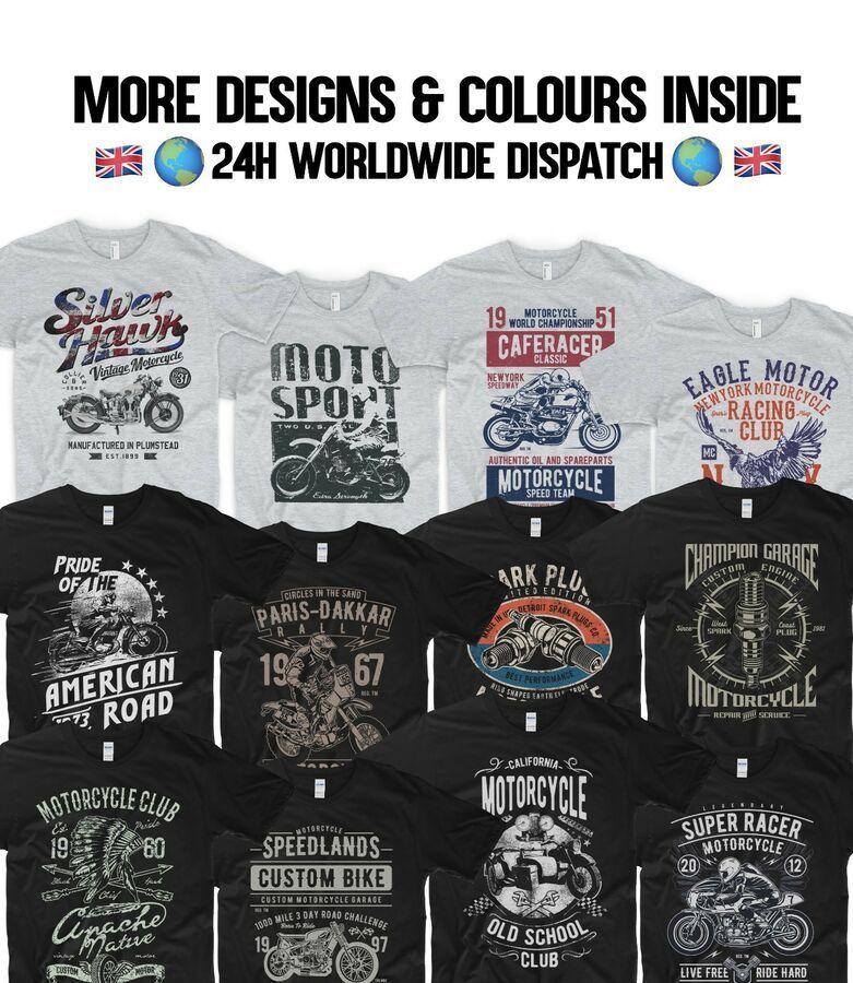 Indian Motorcycle Shirt Motorbike Harley Classic Tee Custom Shirt American