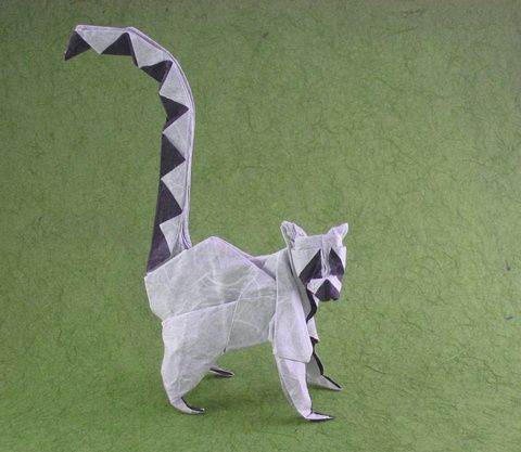 Origami Ring Tailed Lemur From Essence By Roman Diaz