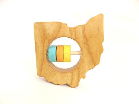 Tennessee State Wooden Baby Rattle /™