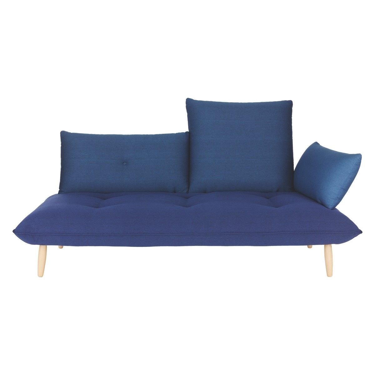NAOKO Blue Right Arm 3 Seater Sofa