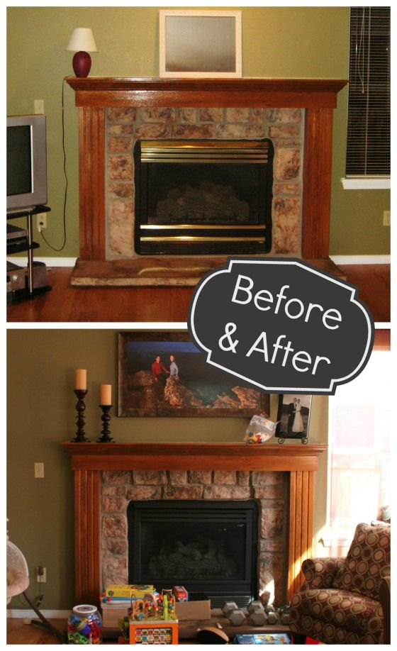 Fireplace Makeover Part 1 My Home Remodels Fireplace Mantels