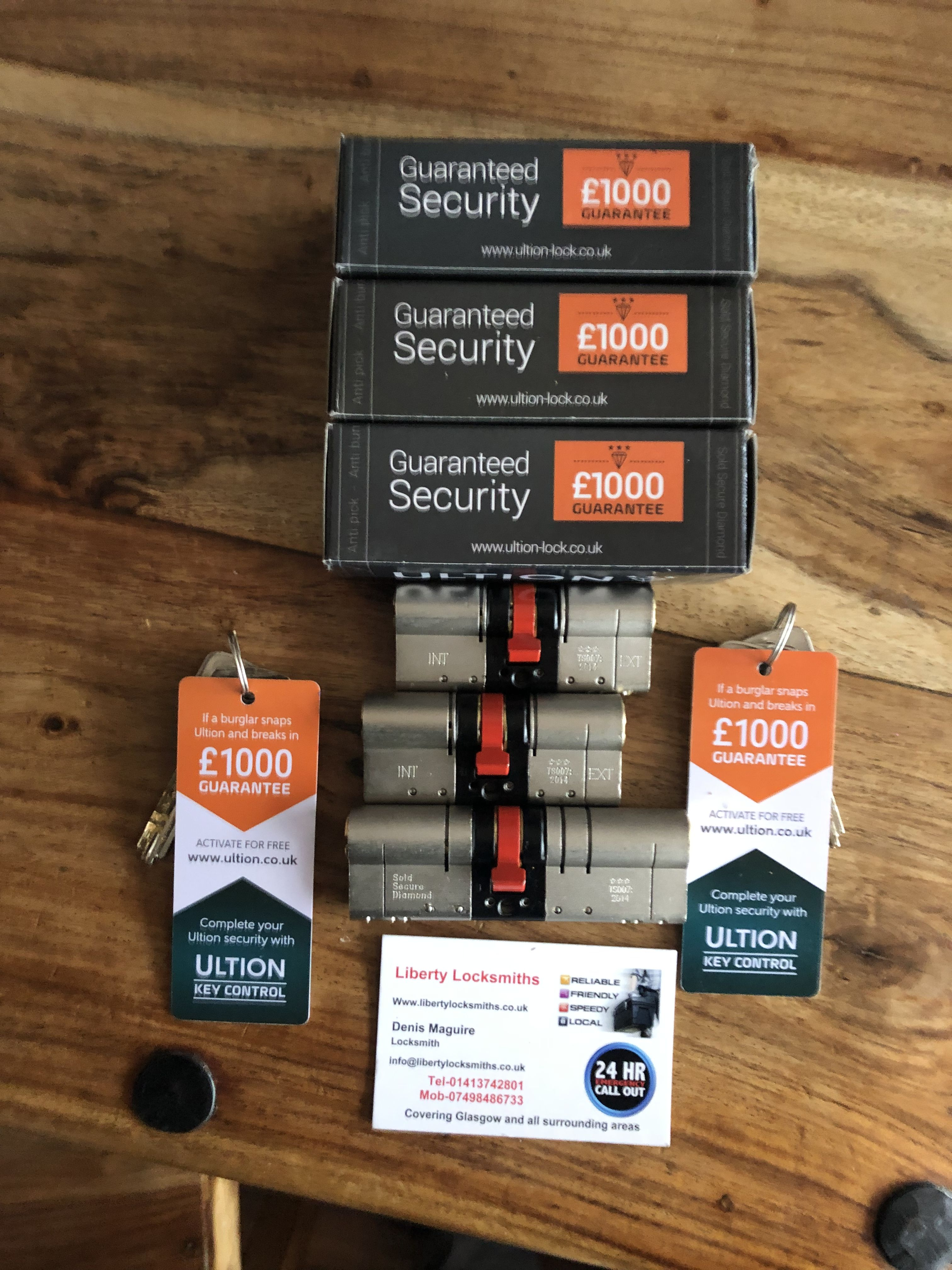 Another delivery from brisantsecure of ultion locks this