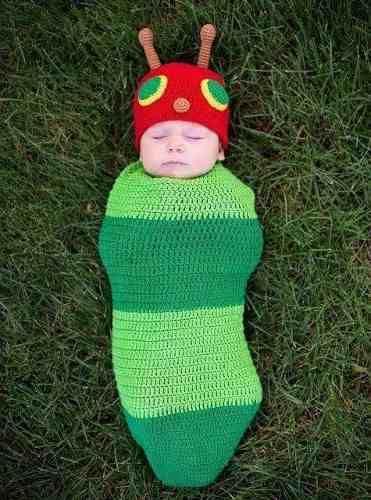 capullo de lana para bebés con gorrito. regalos, nacimientos | Bebe ...