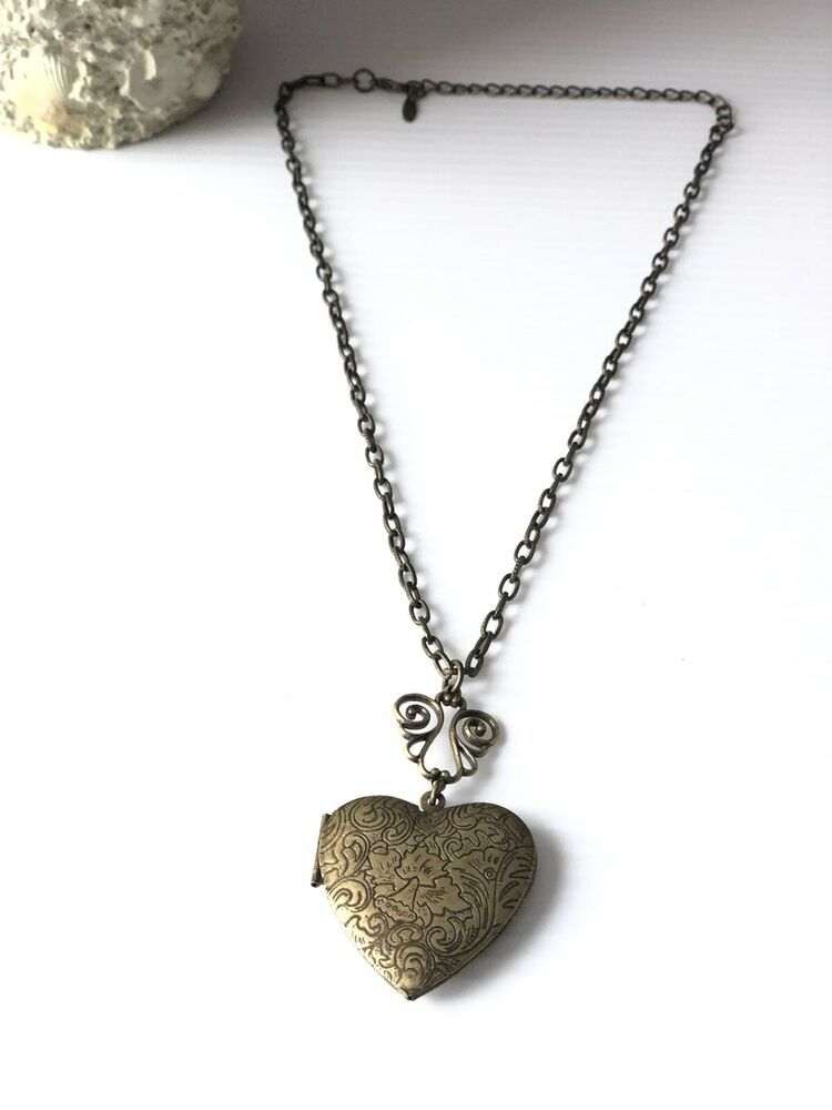 Long rope necklace Beaded pendant Cute locket necklace