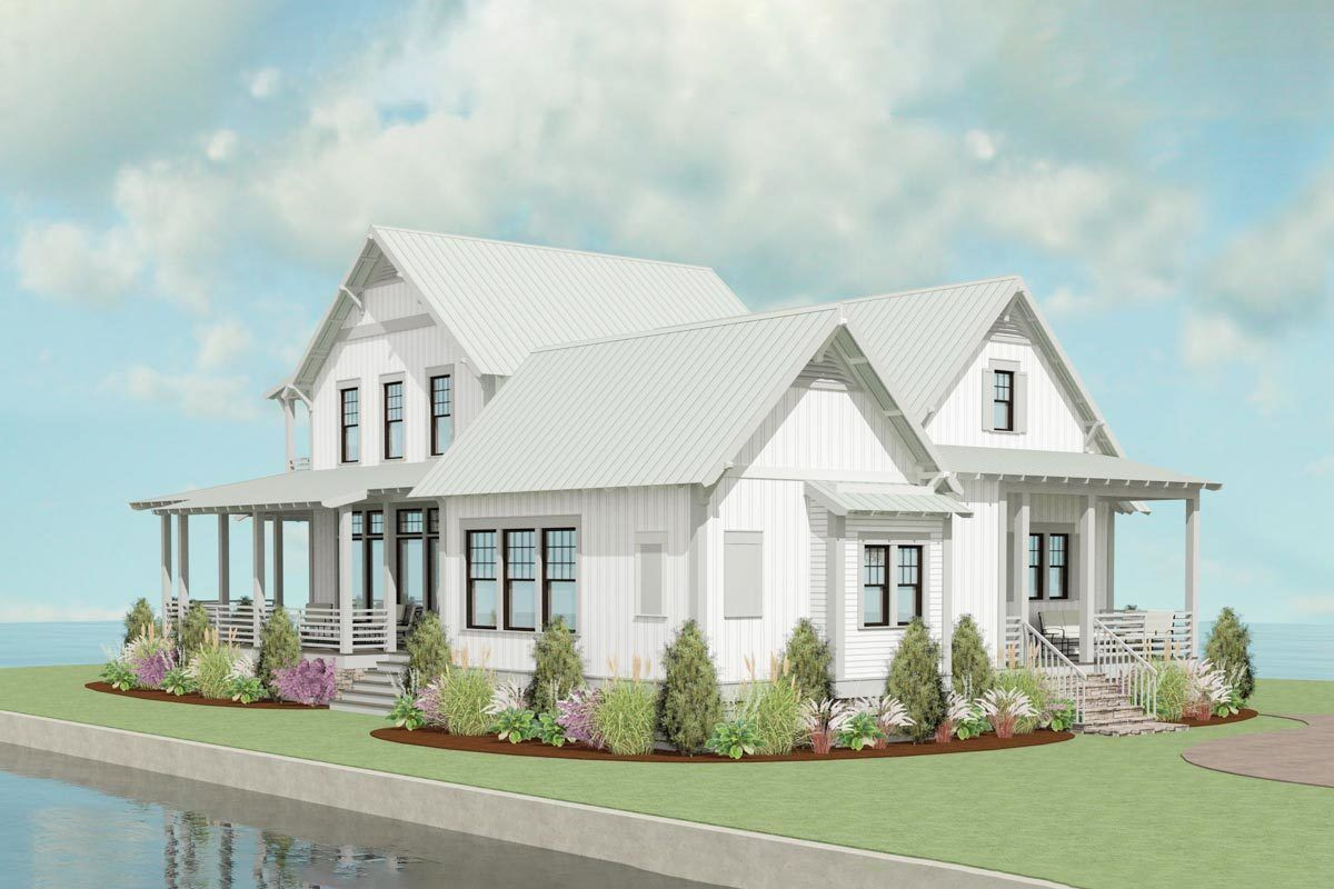 3-Bed Exclusive Farmhouse Plan with Open Concept Layout ...