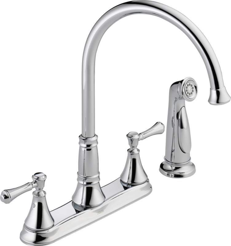 Bathroom Faucets Lifetime Warranty delta 2497lf cassidy kitchen faucet with side spray - includes