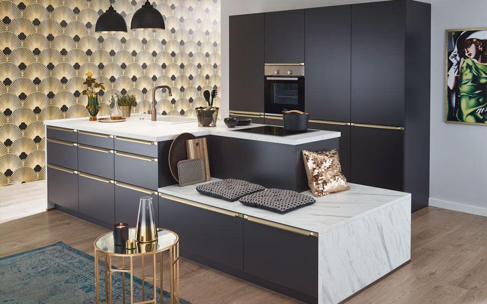 Design-Küche in Anthrazit matt - Küche&Co | Küche in 2019 ...