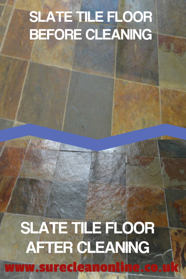 Slate Floor Before And After Cleaning Expert Tile Cleaning Services
