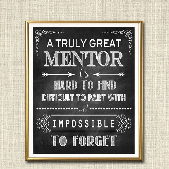 Mentor gift a truly great mentor is hard to find What is a nice thank you gift