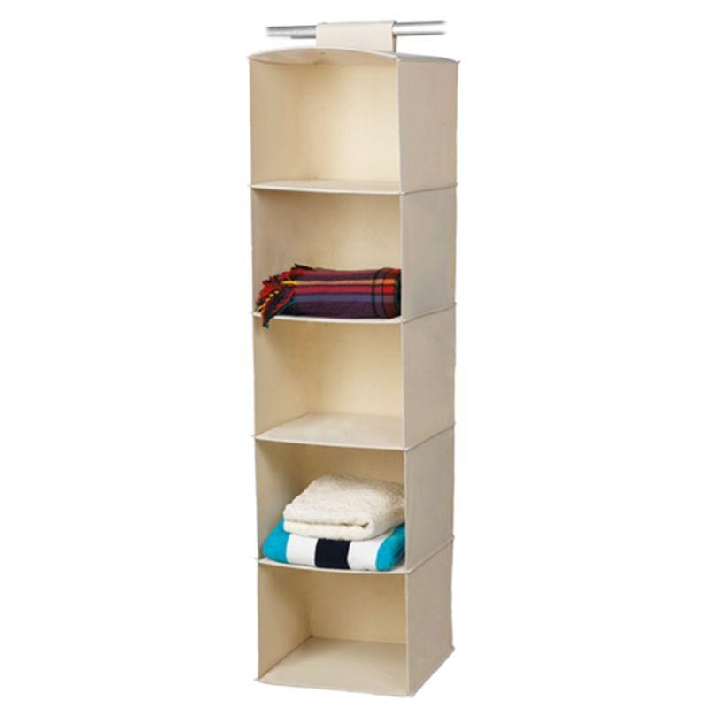 Harmony Jumbo 5 Shelf Hanging Wardrobe Organiser $22 40w x 40d x 150h (cm)
