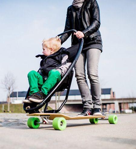 Long Board Scooter Baby Stroller. Preparing for #baby? Visit www.nourishbaby.com.au