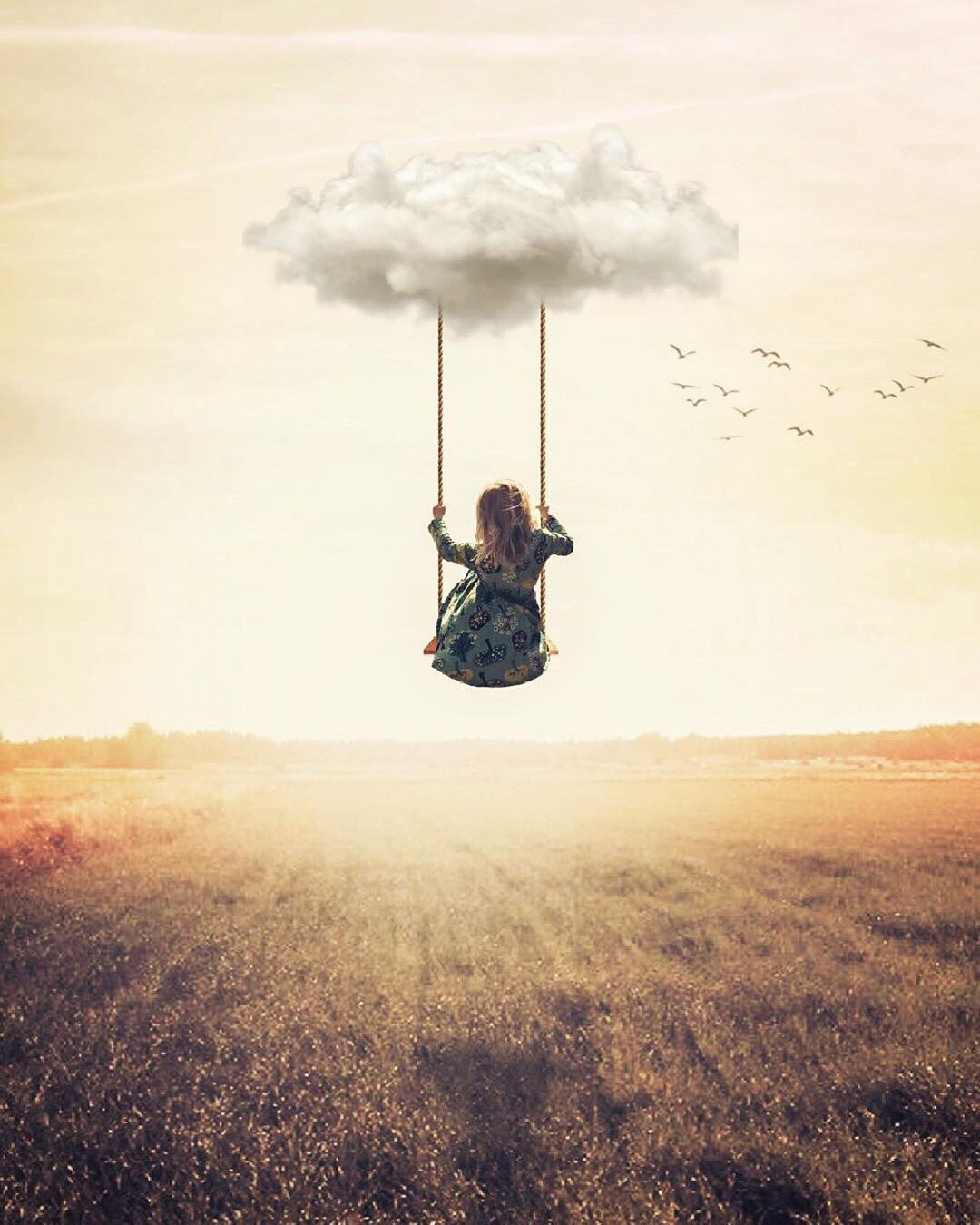 Swinging in the clouds | Instagram, Faceless portrait, Creative challenge