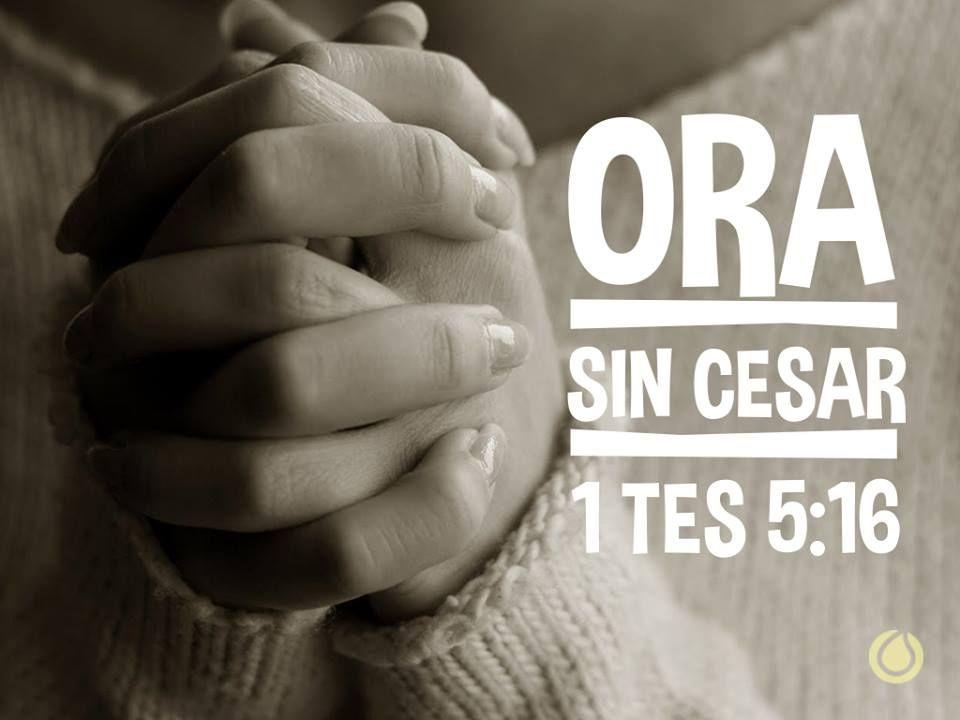 1 Tesalonicenses 5:17-18 Orad sin cesar.  Dad gracias en todo, porque esta es la voluntad de Dios para con vosotros en Cristo Jesús. ♔