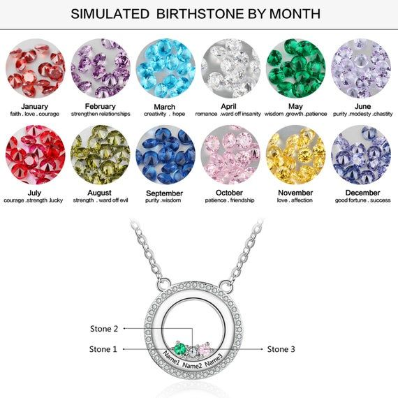 ★ Personalized Birthstone Necklace with 3 Birthstones and 3 Names★ Necklace length 16 inches + 2 inches extension★ Each Necklace is made with certified 925 Sterling Silver★ Perfect for a Mother Necklace, Family Necklace, Wedding Necklace, Anniversary Necklace, Engagement Necklace and Promise Necklace★ All products are handmade in California, USA with the highest quality