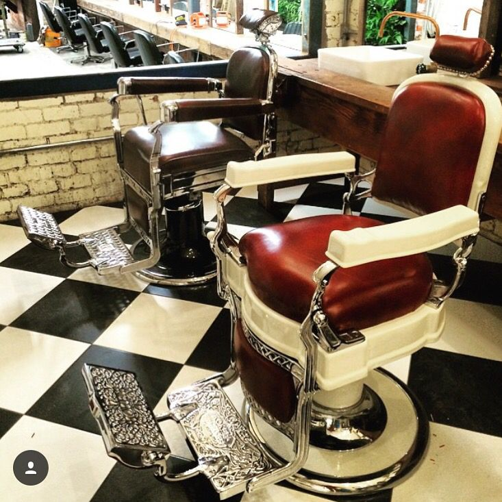 2 Koken Barber Chairs That We Restored For Bida Hairdressers In Melbourne Austrailia