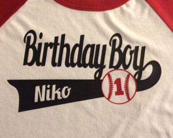 242c2b4b Baseball Birthday shirts for family. THREE by EmbroideryMania | 1st ...
