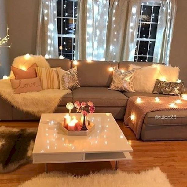 Cool 56 cozy apartment decorating ideas on a budget https for Living room set for small apartments