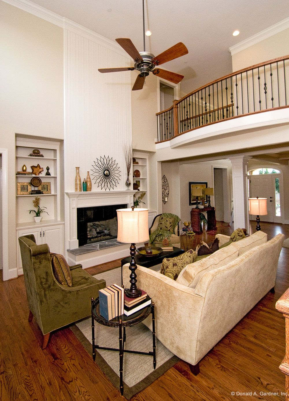 The Rochelle - 1204. Two story great room with open balcony and ...